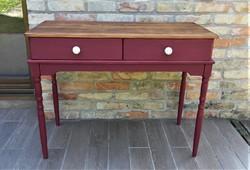 Rustic vintage console table, desk, laptop table