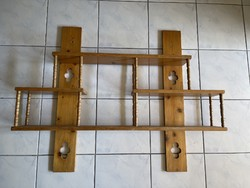 Large very well used carved wall shelf anywhere.