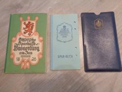 Régi német betétkönyvek