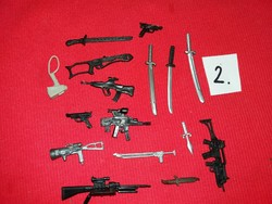 Soldier, warrior action g.I joe star wars and other figures weapon pack in one according to pictures 2