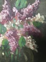 Olajfestmény csendélet ismeretlen festő