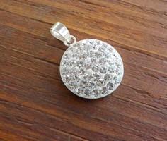 Sok köves női ezüst medál 925