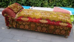 Antique spring couch with old German patty legs from the 1800s
