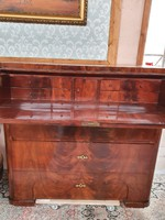 Antique original Biedermeier secretary - openable writing desk