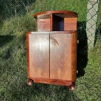 Specially shaped art deco bedside table