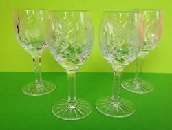 Négy darab kristály talpas likőrös pohár