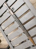 Svájci Vetterli fűrészes bajonet bőr tokkal, papuccsal