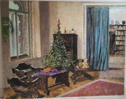 Christmas interior of István Biai Föglein