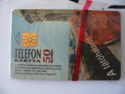 The first telephone card made in Hungary