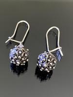 Gyönyörű, kézi készítésű ezüst fülbevaló pár