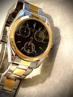 18K gold-steel certina ds chronograph cal 541