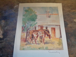 Strissovszky Szilárd akvarell, 1960-as évek