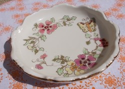 Numbered, hand-painted zsolnay butterfly ashtray