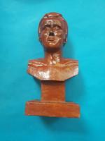 Bernáth aurél sign: male portrait. Ceramics