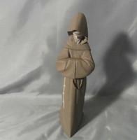 Nagyon ritka Lladro porcelán Szerzetes/Barát figura