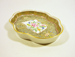 Herend, cubash (cu) 13.6 Cm hand-painted porcelain ashtray, flawless! (P090)