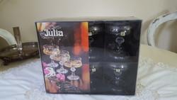6 db.Veba-Glass,Júlia pezsgőspohár