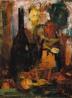 """Parrag Emil ,, Csend és élet """" ollaj-farost 1966"""