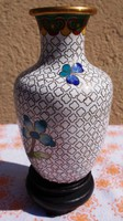 Finely crafted Chinese small copper vase