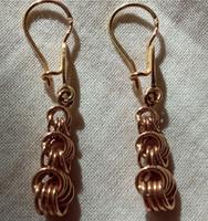 14 carat braided gold earrings