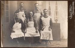 101 Infantry Regiment circa 1900s beautiful shooting tassels, beautiful pipes, on the extreme women's apron is Békéscsaba
