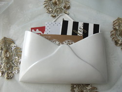 Envelope form wall porcelain stationery, check and invoice holder