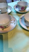 Tertia Herend tea cup with tanyer. 4 pieces