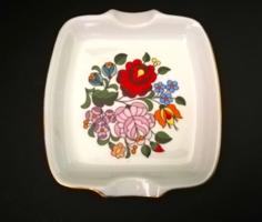 Hand painted porcelain bowl from Kalocsa, ashtray