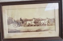 Wilhelm Richter: heir to the throne rudolf on a four-horse carriage