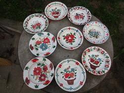 Festett néprajzi tányérok olcsón lotban