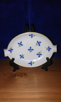 Herend blue flower patterned ashtray