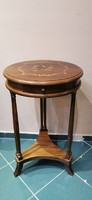 Inlaid pattern 1 drawer side table