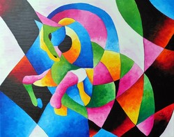 B. Preszecsán Hajnalka-festmény/vászon 50x40cm