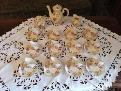 Zsolnay 12 személyes pillangós kávéskészlet