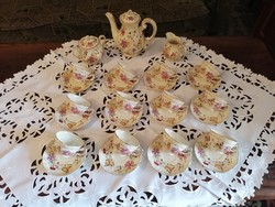 Zsolnay butterfly coffee set for 12 people