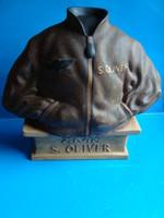 Porcelain advertising figure hand painted s.Oliver jacket German