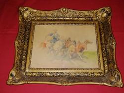 Original marked work by ernő Zórád (walburg egon: foals on Hortobágy) with guarantee