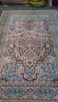 Isfaháni selyem kézi csomózású szőnyeg 1,4 milló bog/ nm