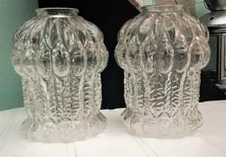 Antik bütykös üvegbúra párban