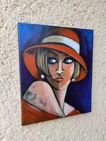 B. Preszecsán Hajnalka-festmény/vászon 30x25cm