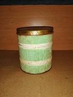 Retro  lisztes doboz fémdoboz fűszertartó 18,5 cm magas (s-2)