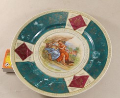 Alt wien barokk jelenetes tányér 491