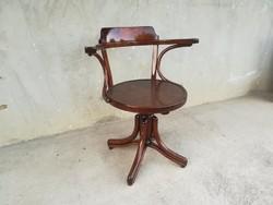 Curiosity.Beautiful special original antique thonet liftable swivel chair !!!