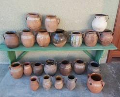 22 pcs bastard silk linen pot collection peasant village decoration nostalgia hard pot