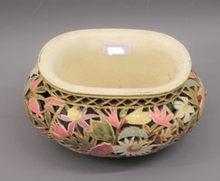 Zsolnay faience antique pot