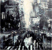 City, oil painting, own creation