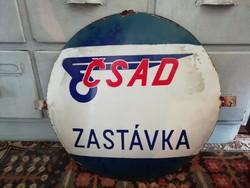 Zománctábla, régi Csehszlovák közlekedési vállalat táblája, dekoráció