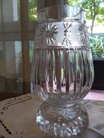 Thick-walled lead crystal vase