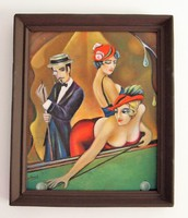 Oil painting of the great play / art deco / seres sándor