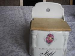 Old porcelain wall flour holder